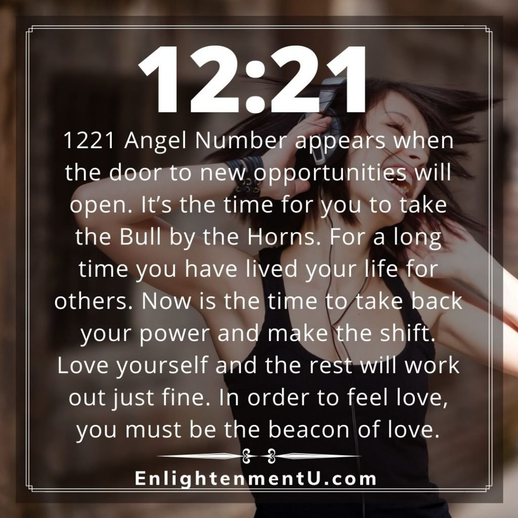 Meaning of 1221 Angel Number