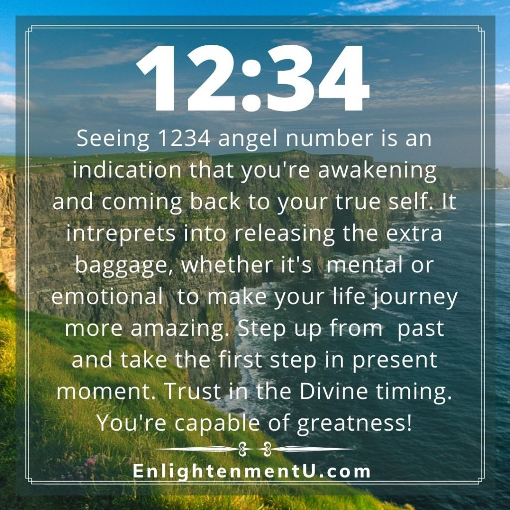 Meaning of 1234 Angel Number