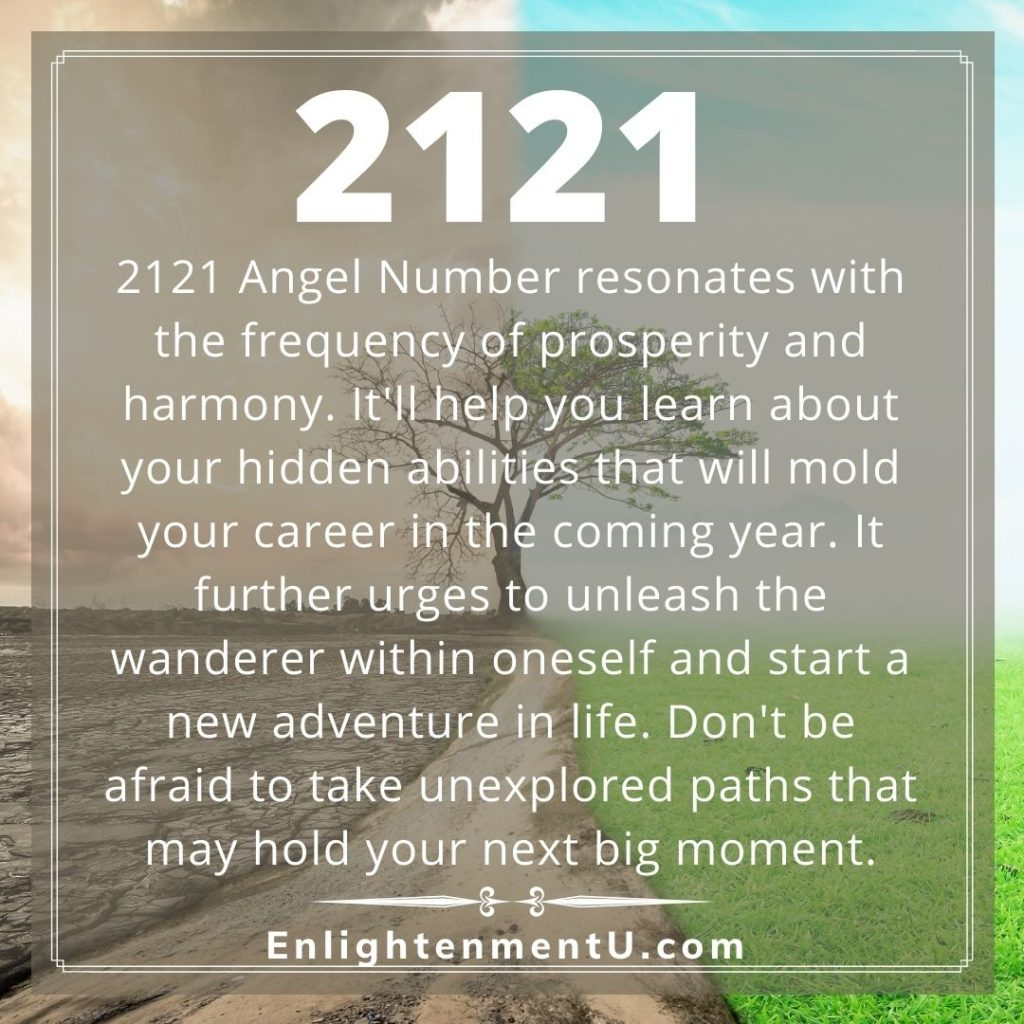 2121 - Angel Number Meaning