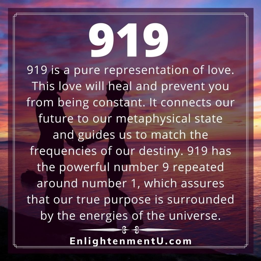 Meaning of 919 Angel Number