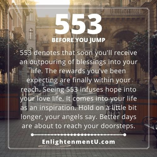 Seeing 553 Angel Number Meaning