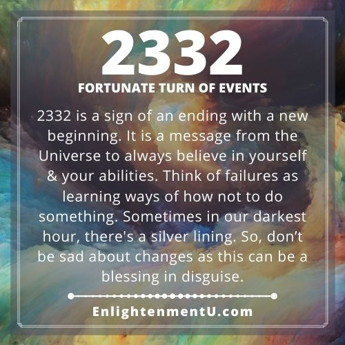 Seeing 2332 Angel Number Meaning