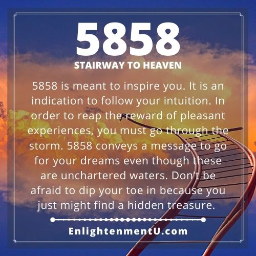 Seeing 5858 Angel Number Meaning
